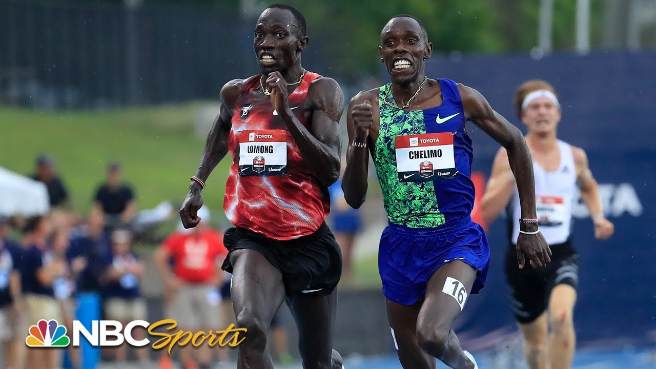 Download Lomong and Chelimo's 5K duel comes down to final steps | NBC Sports