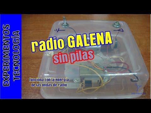 #Radio que funciona SIN pilas ni corriente. Radio galena. #TupperElectrónica