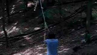 Cool Rope Swing In Woods