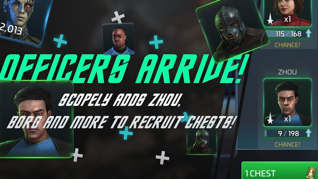 Zhou is here! Borg are here!   Star Trek Fleet Command updates the officer recruit chests!