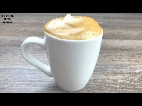 DALGANO COFFEE | Only 3 Ingredients Cappuccino Coffee Recipe By Cooking With Passion