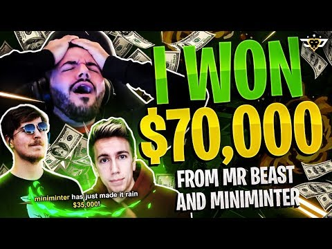 I WON $70,000 FROM MR. BEAST AND MINIMINTER?! - ***NOT CLICKBAIT*** - I'M STILL IN SHOCK!