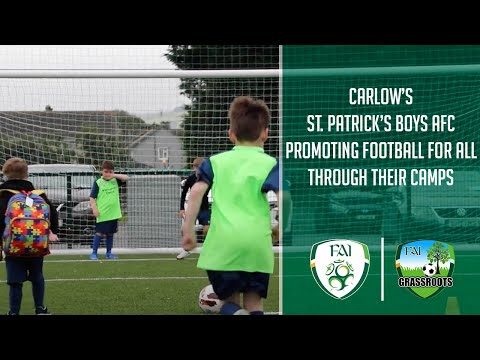 Carlow's St. Patrick's Boys AFC promoting Football For All through their camps