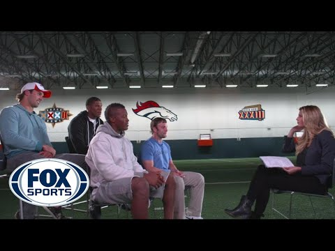 Broncos receivers talk chemisty, Peyton Manning with Erin Andrews
