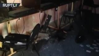 فيديو من مكان انفجار قنبلة يدوية في مدرسة داغستانية
