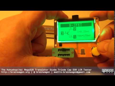 The Huhushop Mega328 Transistor Diode Triode Cap ESR LCR Tester