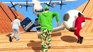 WORLDS BIGGEST HUMAN AVALANCHE! (GTA 5 Funny Moments)