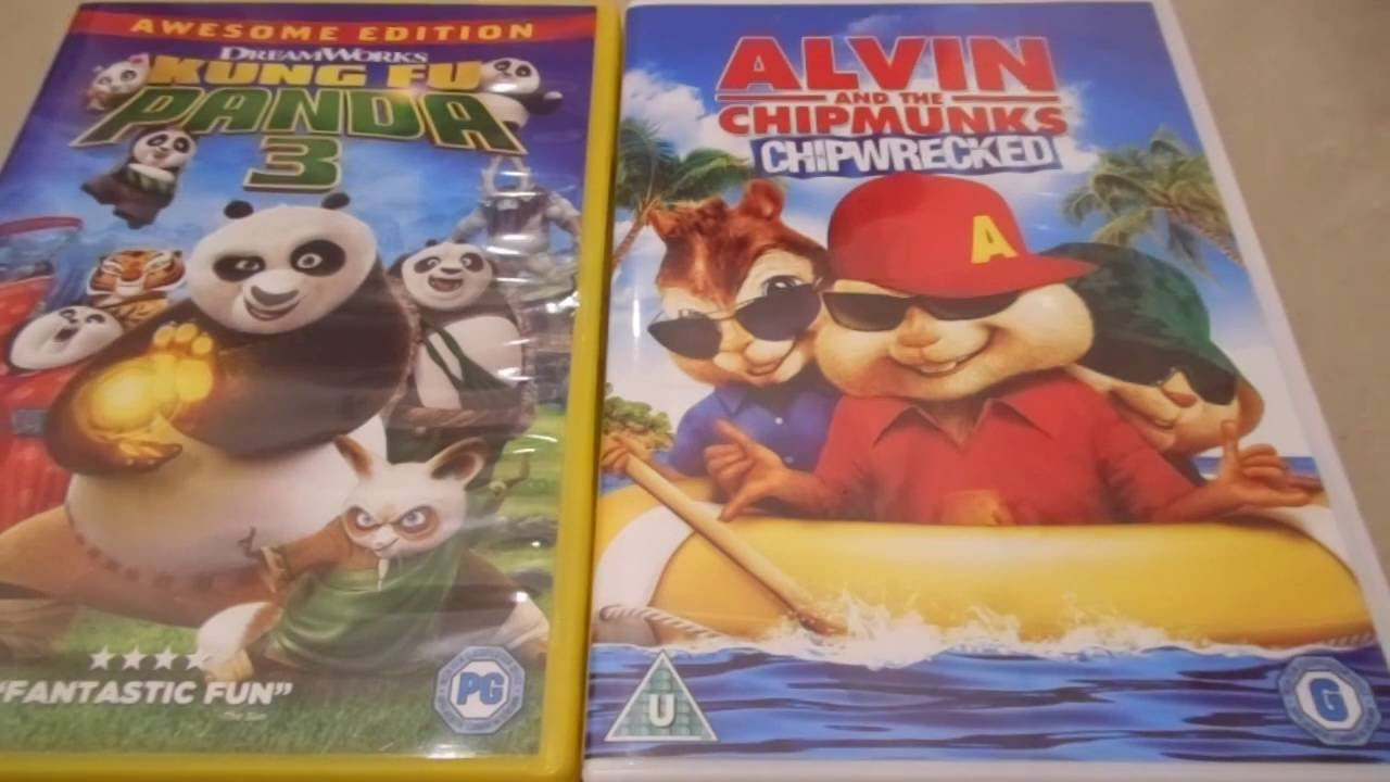 kung fu panda 3 and alvin and the chipmunks chipwrecked uk dvd