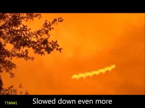 Strange spiral rods flying across the sky