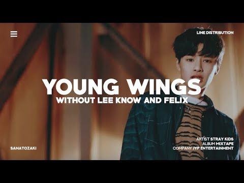 Stray Kids (스트레이 키즈) - Young Wings (어린날개) [Without Felix & Minho] | Line Distribution