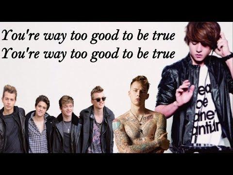 Danny Avila, Machine Gun Kell ft. The Vamps - too good to be true (Lyrics Video)