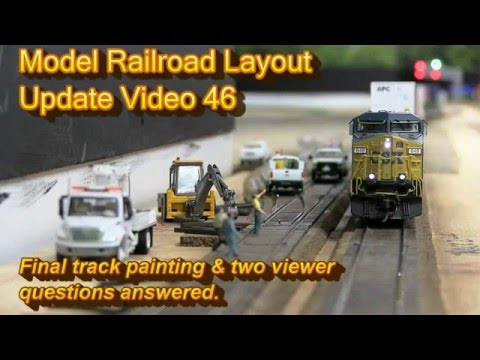 Model Railroad Update Video 46-Track Painting!
