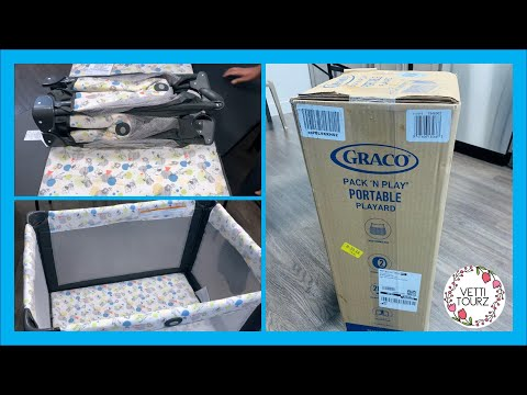 NEW 2020!! Graco Pack N Play Portable Playard Playpen Baby Fence with wheels Unboxing & Review