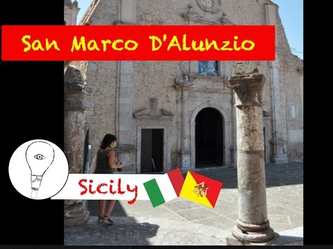 San Marco d'Alunzio - Flying between sea and mountain - Sicily HD