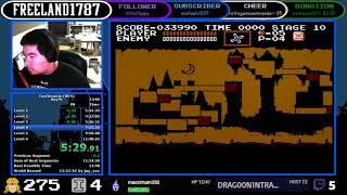 Castlevania (NES) Any% 11:40.617