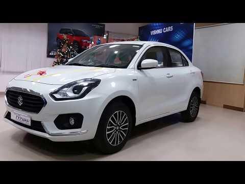 Maruti Suzuki Dzire Facelift Exterior,Interior and Boot Space | Pearl Arctic White | ZDI Plus 1080p