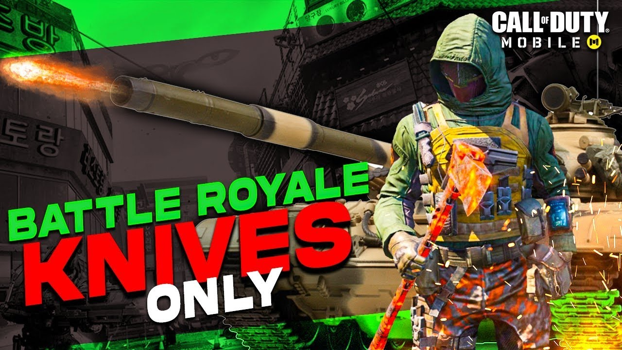 I PLAYED BATTLE ROYALE KNIVES ONLY AND *KNIFED THE TANK!* (ep. #2) | Call of Duty Mobile |