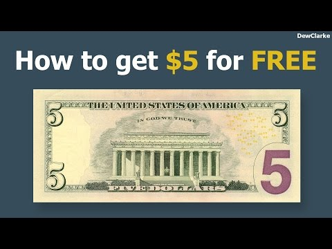 How to get 5 dollars for free