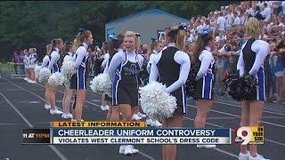 Cheerleader uniform controversy