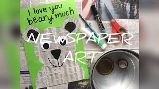 A Beary Fun Upcycling Craft with Newspapers