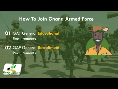 How To Join Ghana Armed Force 2021/2022