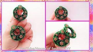 How to Make Chandbali Earrings//Silk thread Earrings..!