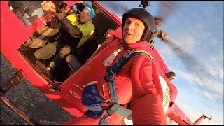 After movie spectacular opening skydive CHALLENGE ALMERE-AMSTERDAM