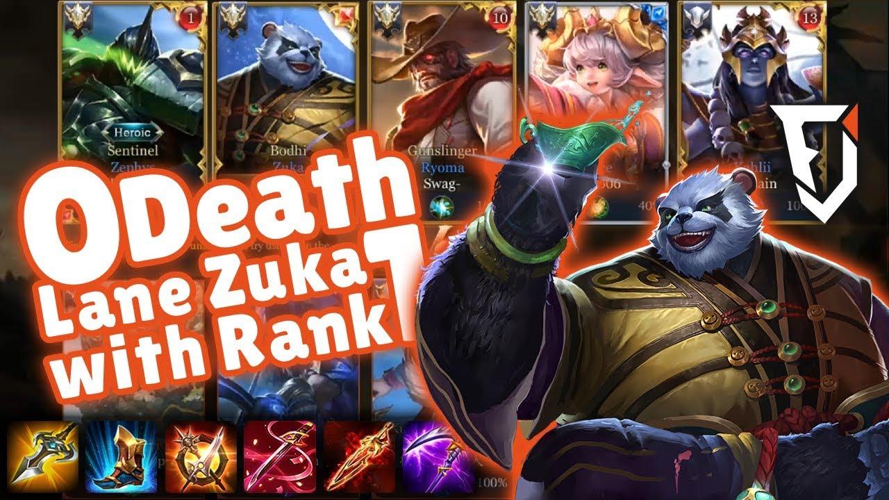 Zuka Lane Mit Rang  Flawless Zuka Gameplay With Rank  Arena Of Valor Deutsch German