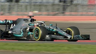 Mercedes W10 Makes Track Debut At Silverstone | 2019 Formula 1 Launches