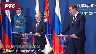 Vučić: Srbija pouzdan partner Rusiji; Putin: Moskva deli zabrinutost zbog KiM
