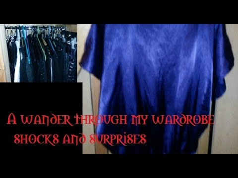 A wander round my wardrobe - shocks and surprises!