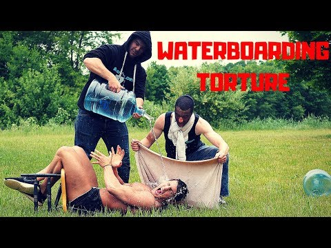 Surviving Waterboarding TORTURE Challenge | Bodybuilder VS Getting Waterboarded and Interrogated