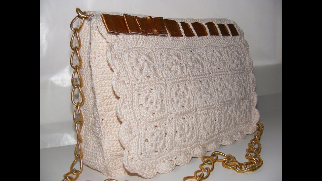 Описание вязания крючком сумок фото