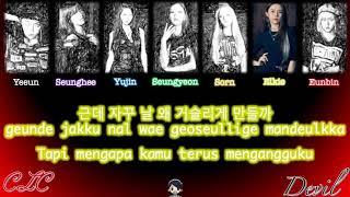 CLC - Devil (씨엘씨 - Devil) (Color Coded Lyrics Indonesia / Rom / Han)
