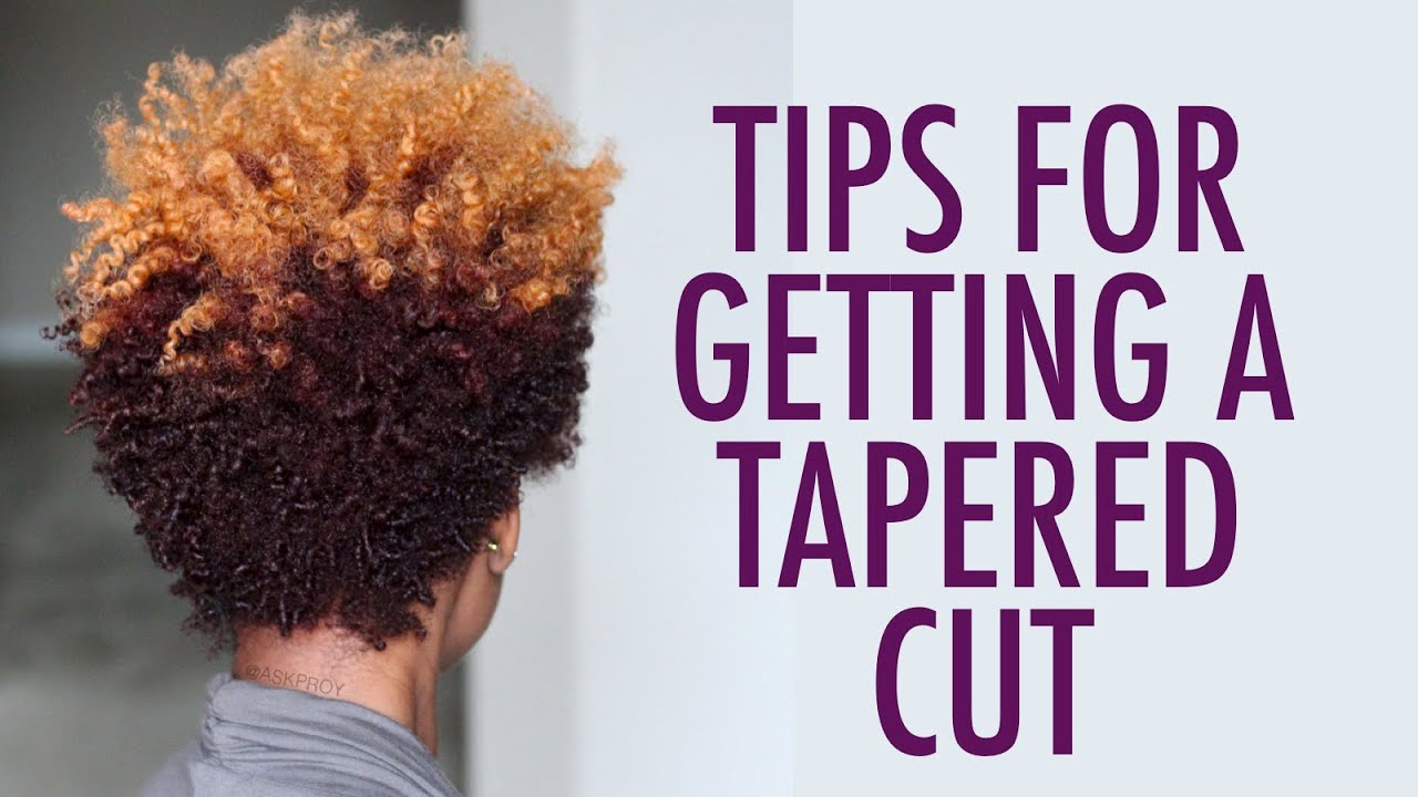 WATCH THIS before CUTTING YOUR Natural Hair | Tapered Cut - YouTube
