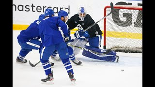 LEAFS BACK IN TOWN: The Blue and White have started to skate
