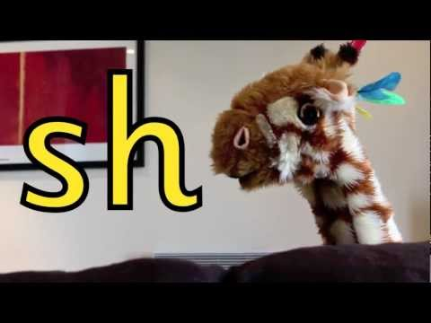 Geraldine the Giraffe learns the /sh/ sound - YouTube