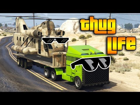 GTA 5 ONLINE : THUG LIFE AND FUNNY MOMENTS (WINS, STUNTS AND FAILS #129)