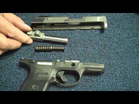 Field stripping the Ruger SR9c gun