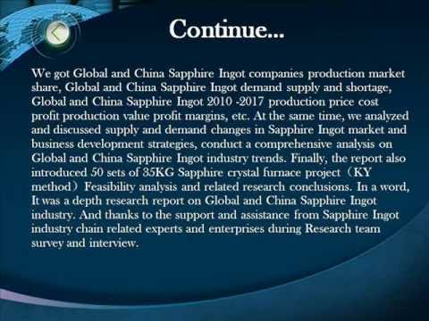 Bharat Book Present : 2013 Deep Research Report on Global and China Sapphire Ingot Industry