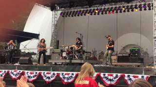 Kongos  ! It's a Good Life- Saturday In the Park Music Fest 2016 , Grandview Park, Sioux City IA.