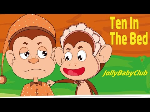 Ten In The Bed Nursery Rhyme Animal Song with Lyrics - Jolly Baby Club