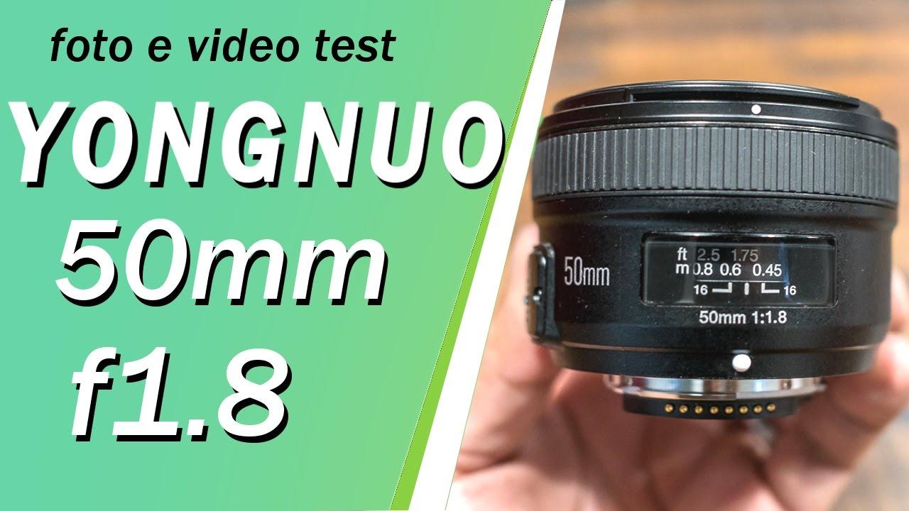 Aktualne Yongnuo 50mm f/1.8 on my NIKON D3200!! Video e Foto Test - YouTube QK42