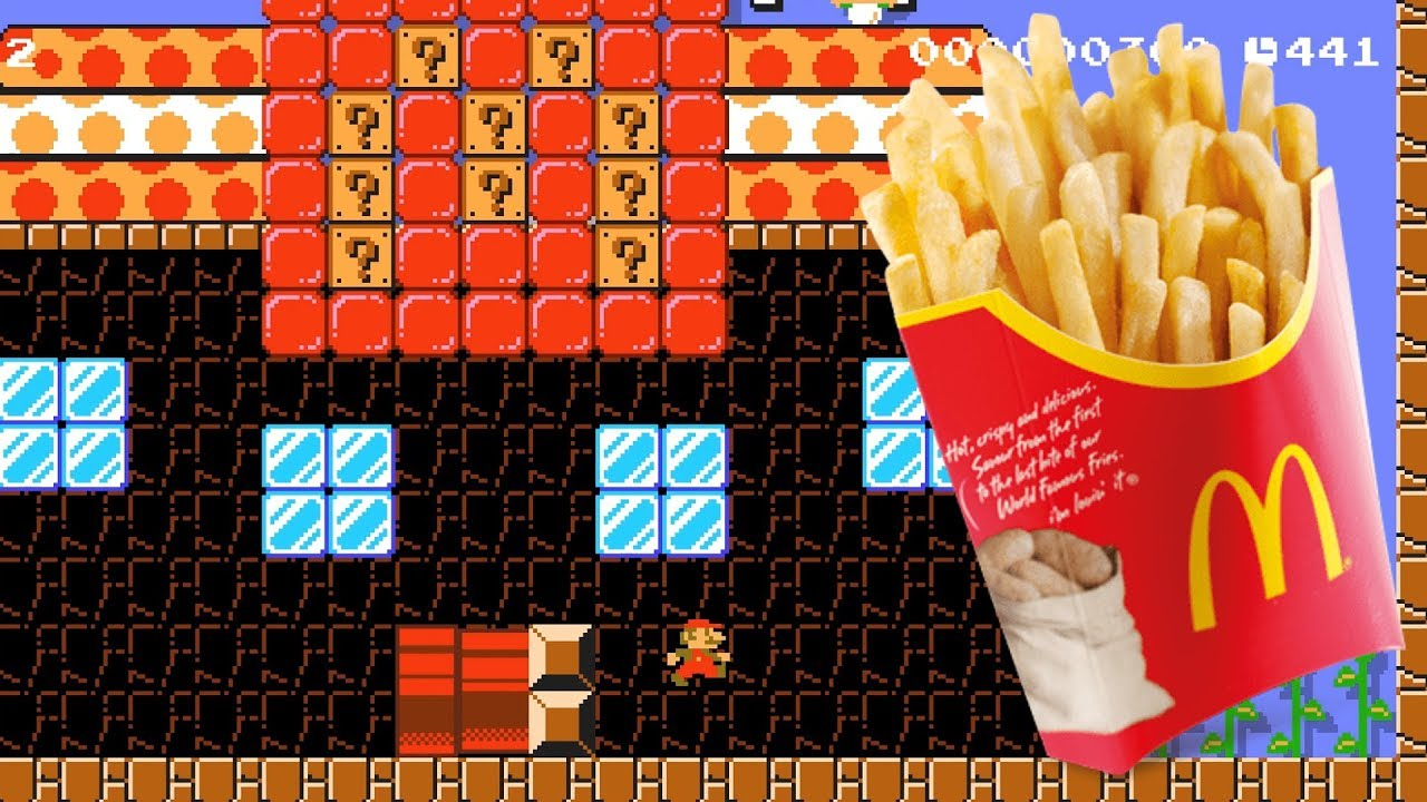 Super Mario Maker 2 Mario goes to Mc Donald's by Waldary