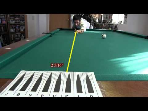 Cue and Tip Testing for Cue Ball Deflection (Squirt)