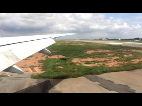 Approach to Kotoka International Airport, Accra - Ghana, Emirates Airlines