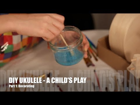 Building a DIY Ukulele kit: A child's play - Part 1: Decorating