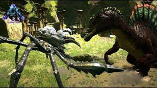 スピノサウルスvs巨大蟹カルキノス - ARK Aberration ゆっくり実況 #7