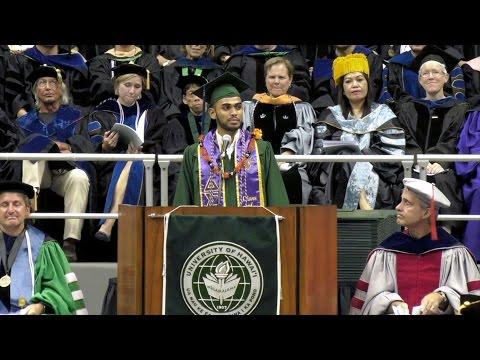 UH Manoa commencement student speaker Shiraz Dole