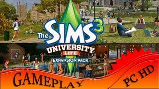 The Sims 3 University Life Best of being Student - Gameplay PC | HD